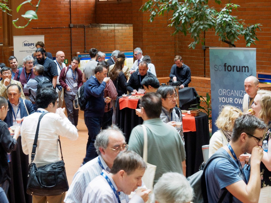 Attendees during one of the coffee breaks